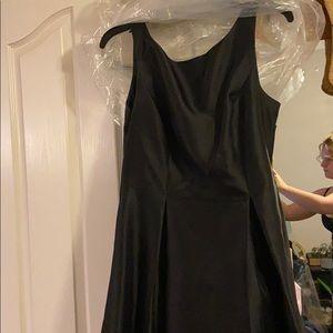 Bridesmaid black dress with pockets